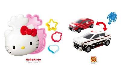 ↑ ハローキティのおもちゃ(左)とVooVのおもちゃ(右)一例