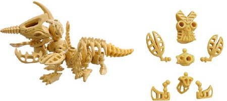 ↑ 各怪獣は共通化した仕組みでパーツ化され、別々の怪獣のパーツを組み合わせることもできる