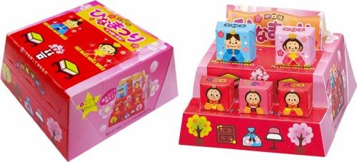 ↑ 販売時包装(左)と飾り付けの事例(右)