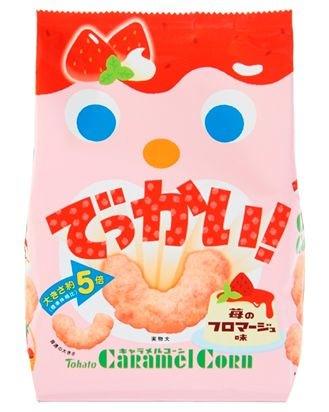 ↑ でっかい!キャラメルコーン・苺のフロマージュ味