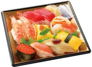 ↑ にぎり寿司セット(1-2人向け)