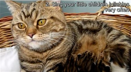↑ 2. Sing your little children lullabies very often