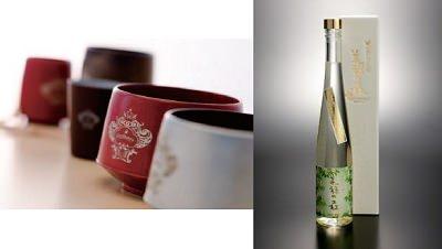 ↑ 商品イメージ。上段左から「会津地鶏卵のかすてら」「三春三角油揚げ」、下段左から「漆塗りのマグカップ」「はちみつ酒 会津ミード」