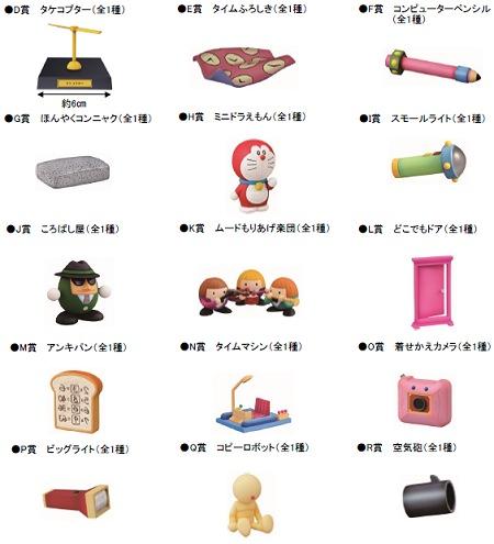 ↑ D-R賞:ドラえもんの秘密道具