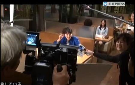 ↑ 長澤まさみ嬢などが登場するユーキャンのCMに関する記者会見映像(時事公式)。