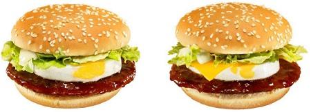 ↑ てりたま(左)とチーズてりたま(右)