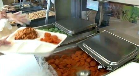 ↑ 学校内の食事制限に反発した子供たちによる抗議映像「We Are Hungry」と、それに絡む学校内での食事に関するレポート(ABC、公式)。どのようなスタイル(ビュッフェ方式)で給食が行われているかを知ることが出来る。