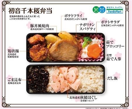 ↑ 初音千本桜弁当・お弁当の中身(イメージ)