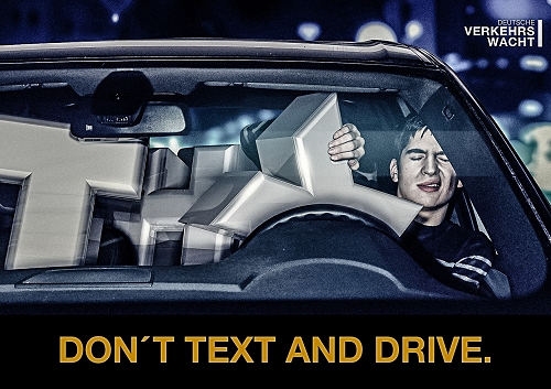 ↑ Deutsche Verkehrswacht: Don't text and drive