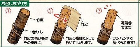 ↑ 「湯葉巻ちまき」の食し方
