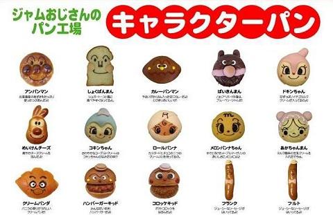 ↑ 販売されるキャラクターパンたち