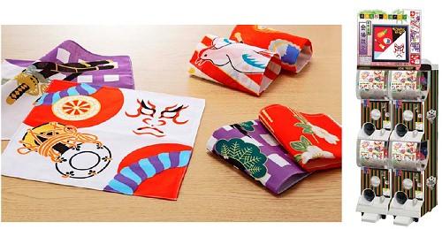 ↑ 歌舞伎ハンカチーフ(イメージ)と筐体