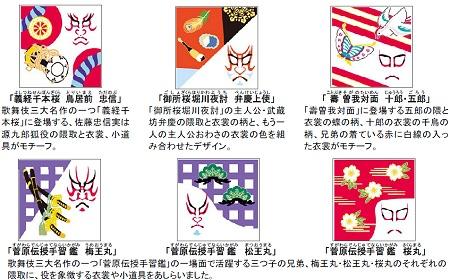 ↑ 「義経千本桜 鳥居前 忠信」など全6種類
