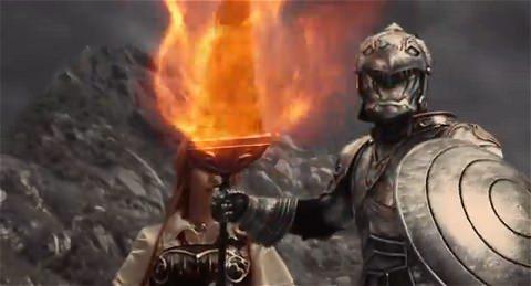 ↑ モバゲーの「アヴァロンの騎士」。ドラマ仕立てとなっている(公式動画)。