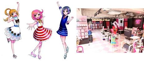 ↑ ドレスイメージ(左)と「プリズムストーン原宿」店舗内観(右)