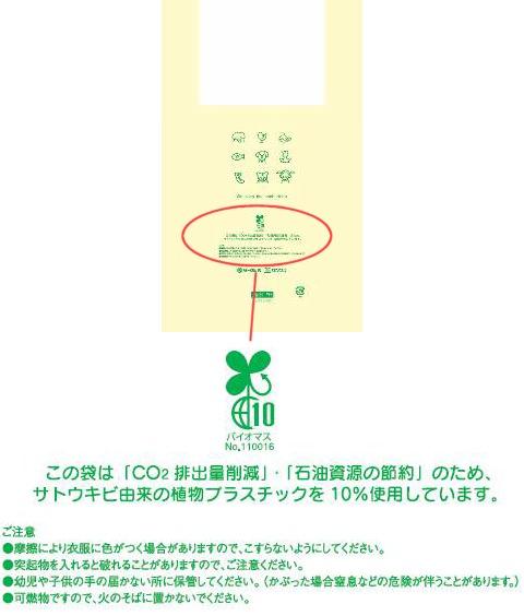 ↑ レジ袋 デザインイメージ