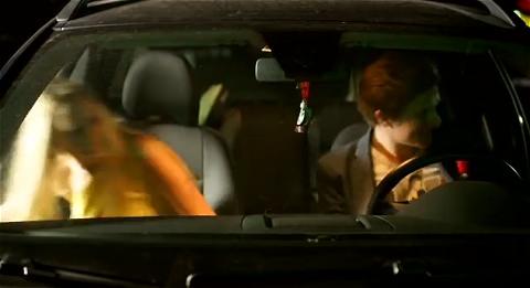 ↑ アルコール検出に引っかかった運転手を助手席に載せて再チェック