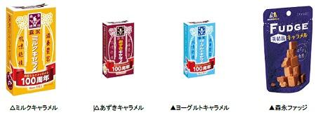 ↑ キャラメル商品