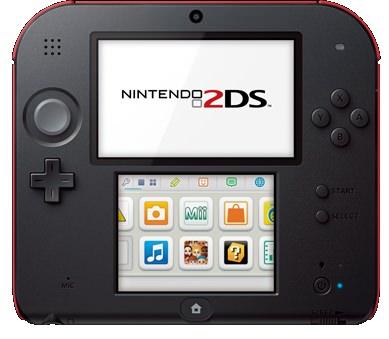 ↑ ニンテンドー2DS。3DSの弟分のようなもの。現時点では日本では発売未定