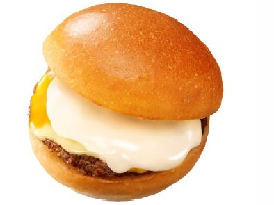 ↑ とろーりフォンデュ仕立ての絶品チーズバーガー