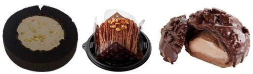 ↑ 左から「俺のチョコロールケーキ」「俺のチョコモンブラン」「俺のチョコクッキーシュー」