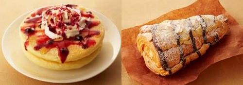 ↑ 「T'sパンケーキ ホリデーダブルベリーハニー」(左)と「アマクロツリー」(右)