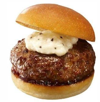 ↑ 黒毛和牛ハンバーグステーキバーガー(ダブルトリュフソース)