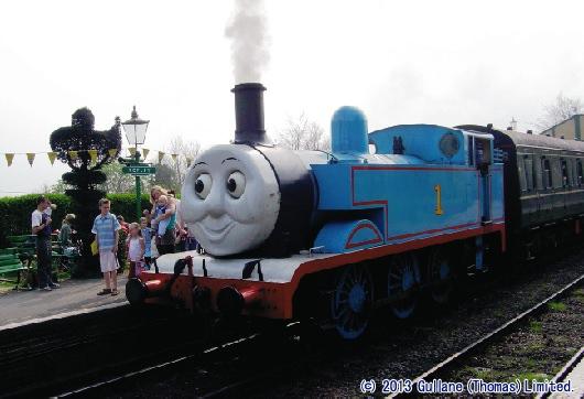 ↑ リリースに掲載されている「Day out with Thomas」のトーマス号