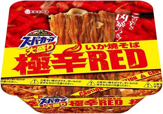 ↑ スーパーカップ 大盛りいか焼そば極辛RED