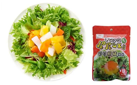 ↑ 「マンナンDEパパッと! 彩り柑橘風味」