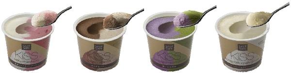 ↑ 左から「濃厚ミルク&ストロベリー」「カカオ&マロン」「紫いも&抹茶」「ハニーミルク&ゆずジンジャー」