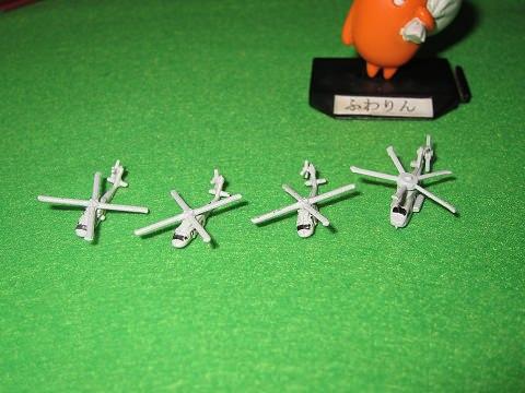 ↑ 付属ヘリはSH-60J/Kが3機、MCH-101が1機。本体とプロペラをつけるだけ