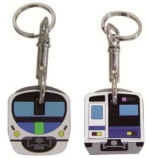 ↑ 「30000系キーカバー」(左)と「6000系キーカバー」(右)
