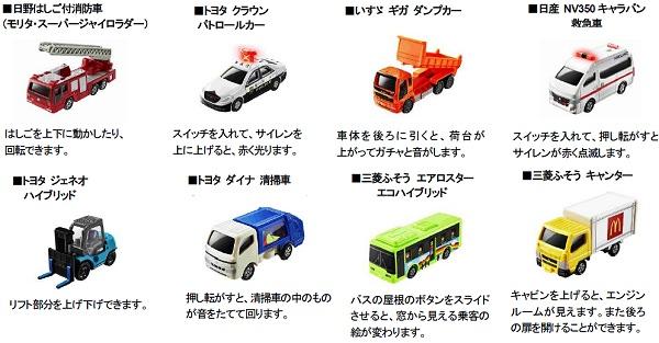 ↑ トミカ(全8種類)