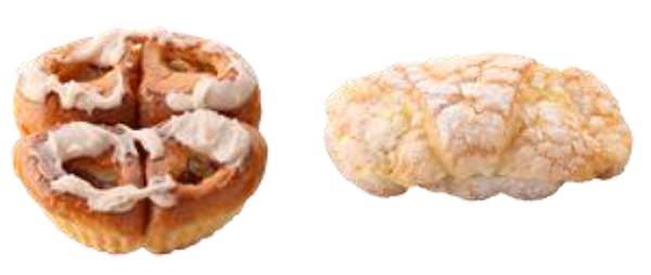 ↑ パン部門では「アップルシナモンパン」「クロワッサンダマンド」