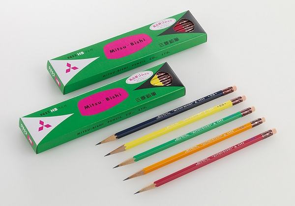 ↑ 消しゴムつき鉛筆『9852番』