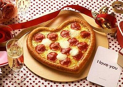 ↑ ハッピーバレンタインピザ