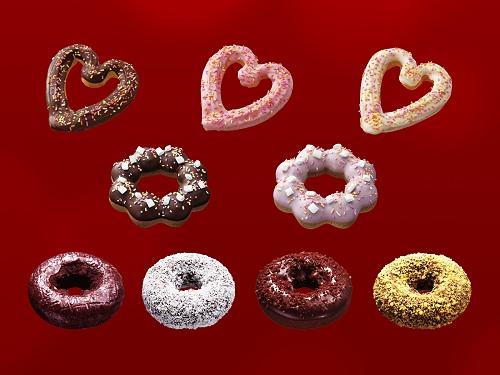 ↑ 「バレンタインセット」対象チョコレート系ドーナツ