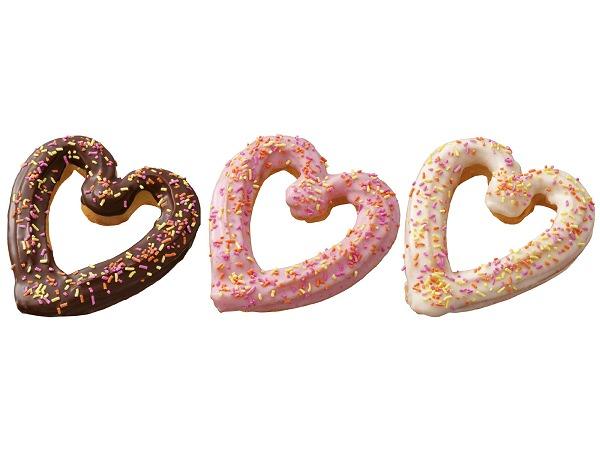 ↑ 「ハートチュロ」。左からチョコ、ストロベリー、ホワイト