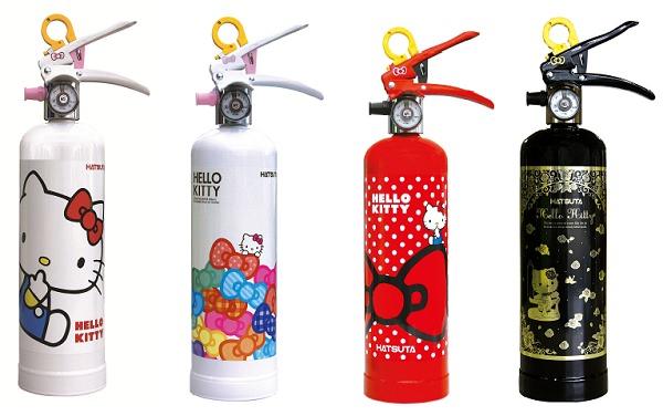 ↑ ハローキティ住宅用消火器
