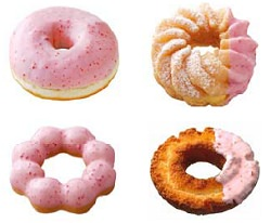 「ストロベリードーナツフェア」に登場する既存ドーナツ