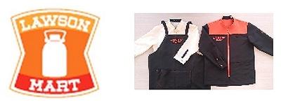 ↑ 「ローソンマート」のロゴマークとユニフォーム