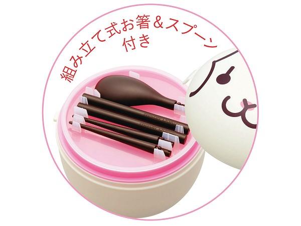 ↑ 組み立て式のお箸とスプーン付き。手に持つ部分が2本のみなので、お箸とスプーンの同時利用はできない