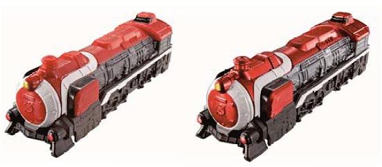 ↑ 「烈車戦隊トッキュウジャー トッキュウレッシャー00」。通常塗装版とメタリック塗装版の2種類が提供される