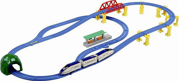↑ プラレール E7系北陸新幹線かがやき立体レールセット