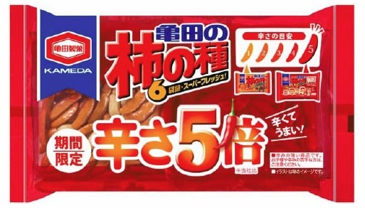 ↑ 192g 亀田の柿の種辛さ5倍6袋詰