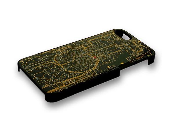 ↑ 回路線図iPhone5/5Sケース・関西版(ブラック)