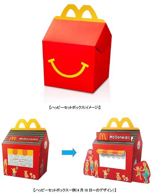 ↑ ハッピーセットボックス一例(4月18日以降のデザイン)