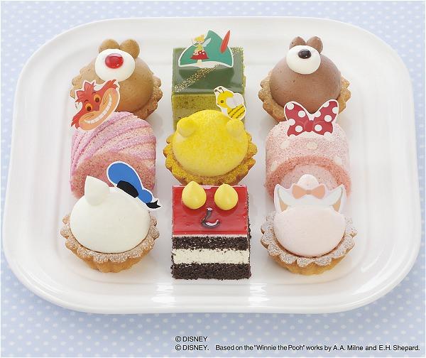 ↑ ディズニーコレクション(9個入)。上段左からデール、ピーター・パン、チップ。中段左からチェシャ猫、くまのプーさん、ミニー。下段左からドナルドダック、ミッキー、マリー