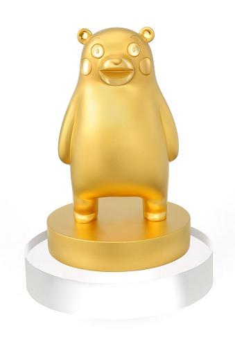 ↑ 純金製 くまモン